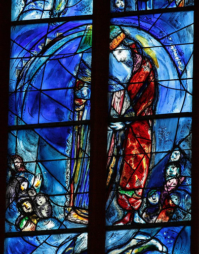 Joseph Appears With His Coat Of Many Colors In This Stained Glass Window By Marc Chagall The Collegiate Church St Stephan