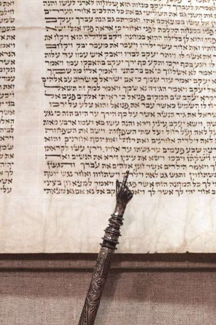 "Torah page with ""yad"" pointer"