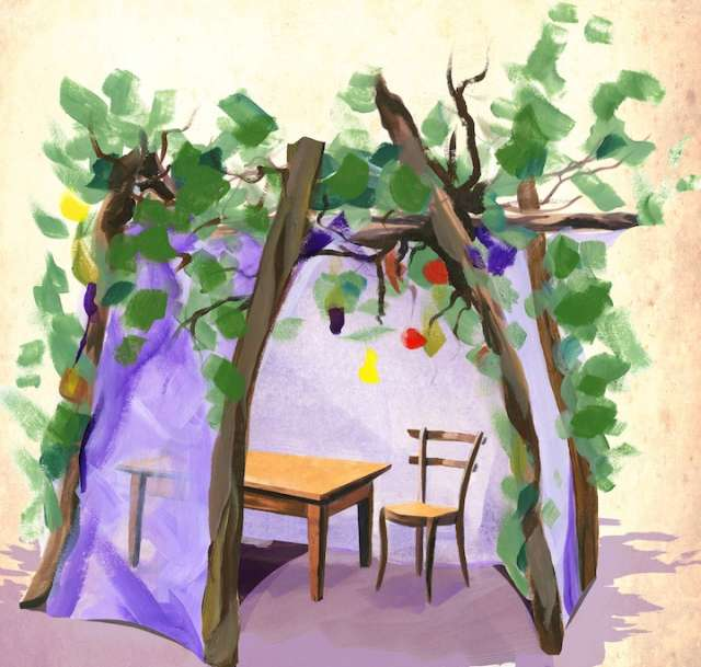 Watercolor Sukkah