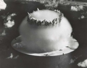 Operation Crossroads, a nuclear weapon test conducted by the US