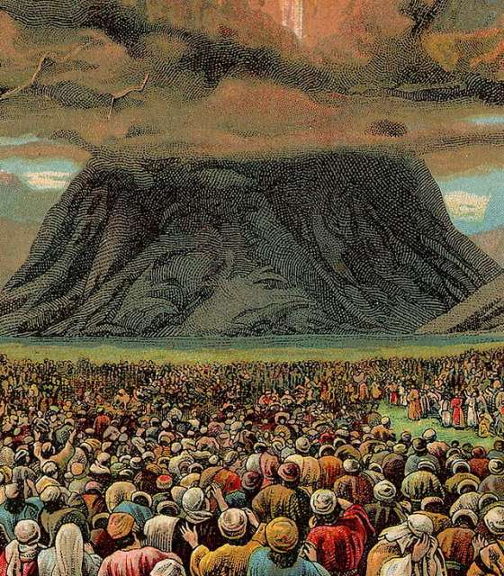 The Israelites gathered at Mt. Sinai