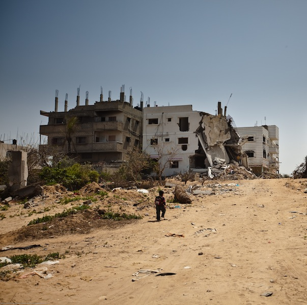 Demolished building from Gaza in 2009.