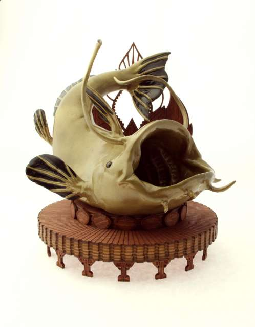 Statue of the Mekong Catfish.