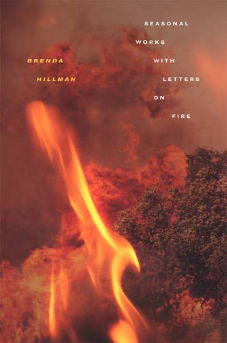 Book cover with forest on fire.