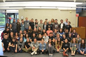Group posed for a photo at Open Hillel