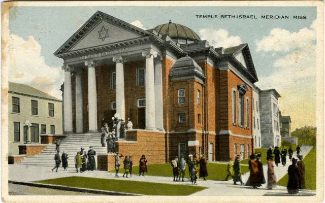 Postcard depicting a Jewish temple.