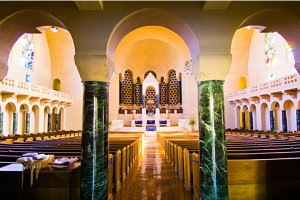 Interior of Temple Emanu-El