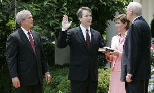 Swearing-in Ceremony for Brett Kavanaugh to the U.S. Court of Appeals for the District of Columbia. Oval. Rose Garden.