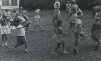 children playing on field