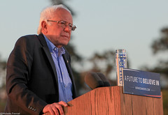 Bernie Sanders Speaking at Rally