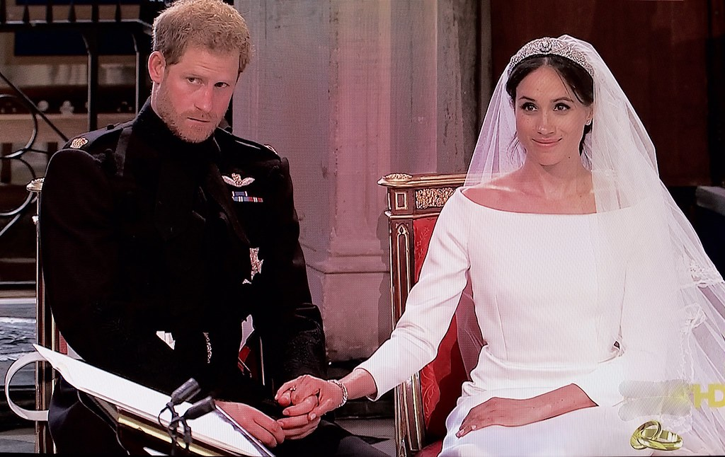 Photo of Prince Harry and Princess Meghan at their wedding