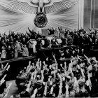 Hitler at Reichstag (NARA)
