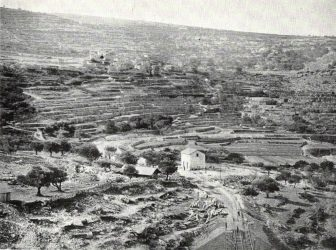 An 1893 photograph of the terraces in Battir.