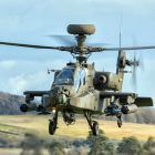 Apache Longbow helicopter on a training sortie